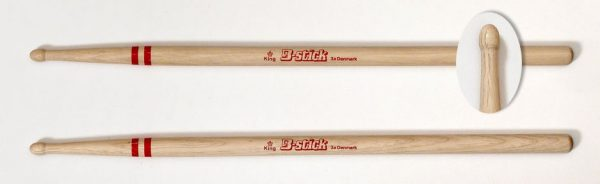 Drumsticks King 3a from B-stick has a barrel tip with a sturdy neck