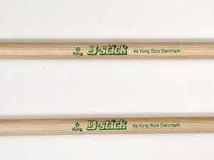 Drumsticks King 4a King Size from B-stick are longer than normal sticks
