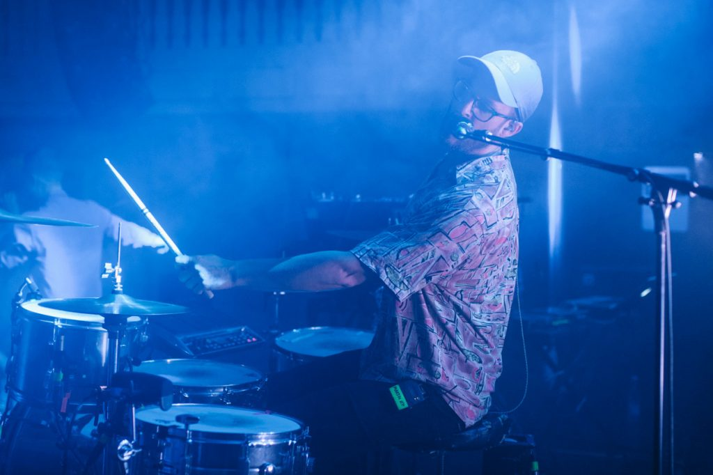 "Martin Petersen ""live"" with his B-stick drumsticks"
