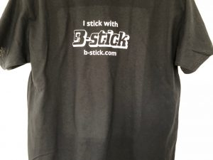 Cool T-shirt for a drummer using B-stick drumsticks