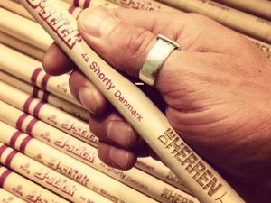 Personalized drumsticks made for Die Herren - B-stick