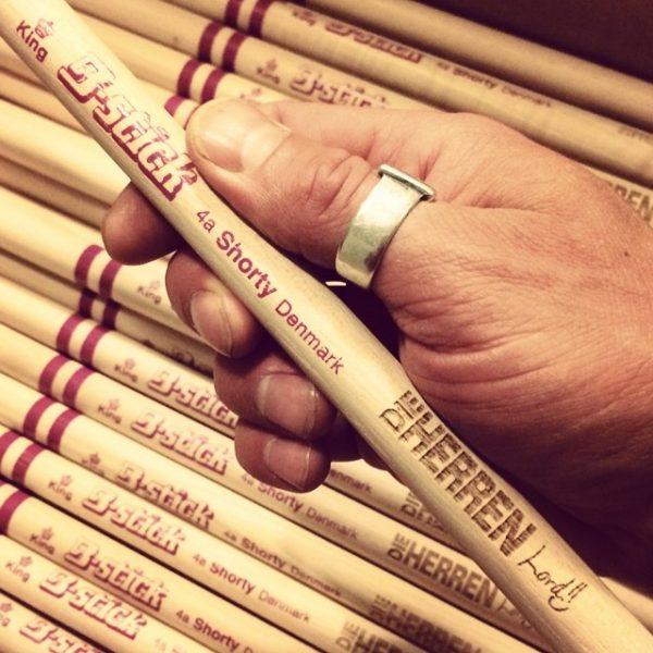 Personalized drumsticks made for Die Herren - B-stick