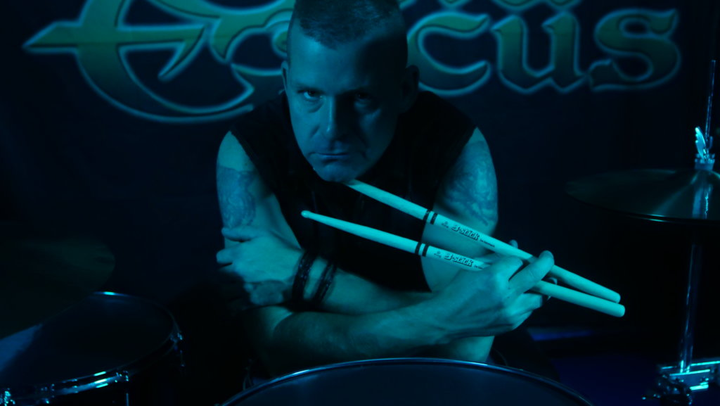"Jarle ""URUZ"" Byberg with his drumsticks from B-stick"