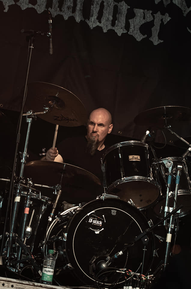 Gary Bevan with B-sticks at Bloodstock Festival